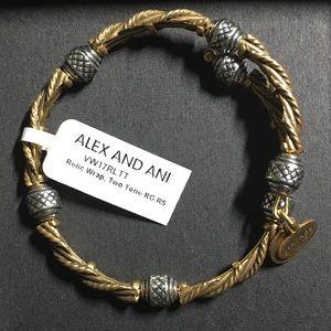Alex and Ani Relic Wrap Mixed Metal Bracelet